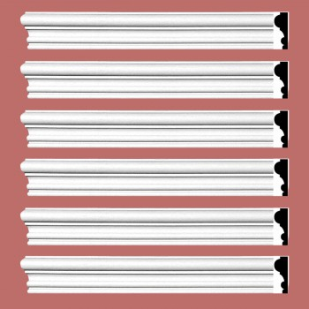 <PRE>Renovator's Supply Crown Molding White Urethane Amherst Simple Design 6 Pieces Totaling 576inch Length</PRE>zoom2