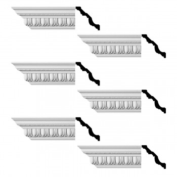 <PRE>Renovator's Supply  Ornate Cornice White Urethane Design 6 Pieces Totaling 576inch Length</PRE>zoom1