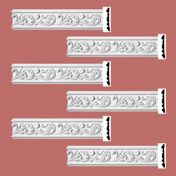 <PRE>Renovator's Supply Ornate Crown Molding White Urethane Kenmorer Design 6 Pieces Totaling 576inch Length</PRE>zoom2