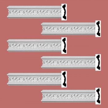 <PRE>Renovator's Supply Crown Molding White Urethane Beacon Hill Ornate  6 Pieces Totaling 576inch Length</PRE>zoom2