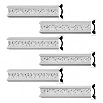<PRE>Renovator's Supply Crown Molding White Urethane Beacon Hill Ornate  6 Pieces Totaling 576inch Length</PRE>zoom1