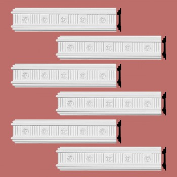<PRE>Renovator's Supply Crown Molding White Urethane Westchester Ornate  6 Pieces Totaling 576inch Length</PRE>zoom2