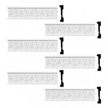 <PRE>Renovator's Supply Crown Molding White Urethane Ornate Design 6 Pieces Totaling 576inch Length</PRE>zoom1