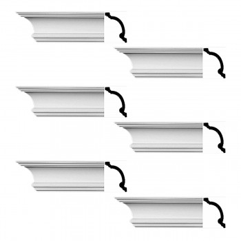 <PRE>Renovator's Supply Cornice White Urethane Hilton Head Simple Design 6 Pieces Totaling 576inch Length</PRE>zoom1