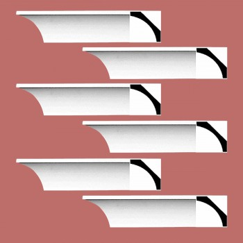 <PRE>Renovator's Supply Cornice White Urethane Bloomington Simple Design 6 Pieces Totaling 576inch Length</PRE>zoom2