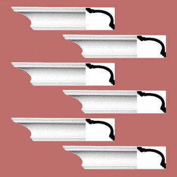 <PRE>Renovator's Supply Cornice White Urethane Asheville Simple Design 6 Pieces Totaling 564inch Length</PRE>zoom2