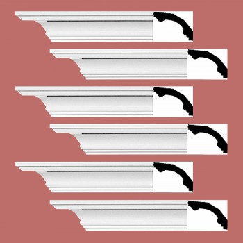 <PRE>Renovator's Supply Cornice White Urethane Bridgeport Simple Design 6 Pieces Totaling 564inch Length</PRE>zoom2