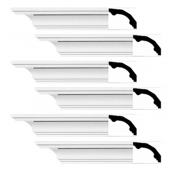<PRE>Renovator's Supply Cornice White Urethane Bridgeport Simple Design 6 Pieces Totaling 564inch Length</PRE>zoom1