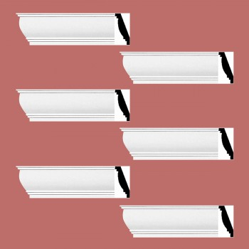 Renovators Supply Cornice White Urethane Waterbury Simple Design 6 Pieces Totaling 564 Length White PrePrimed Urethane Crown Cornice Molding Cornice Crown Home Depot Ekena Millwork Molding Wall Ceiling Corner Cornice Crown Cove Molding