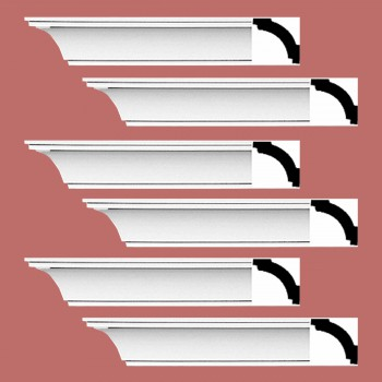 Renovators Supply Cornice White Urethane Dover Simple Design 6 Pieces Totaling 564 Length White PrePrimed Urethane Crown Cornice Molding Cornice Crown Home Depot Ekena Millwork Molding Wall Ceiling Corner Cornice Crown Cove Molding
