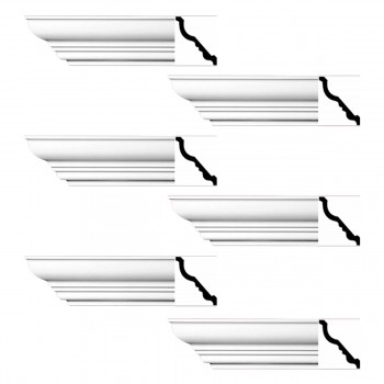<PRE>Renovator's Supply Cornice White Urethane Bennington Simple Design 6 Pieces Totaling 564inch Length</PRE>zoom1