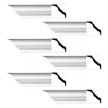 <PRE>Renovator's Supply Cornice White Urethane Princess Anne Simple Design 6 Pieces Totaling 564inch Length</PRE>zoom1