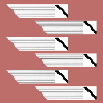 <PRE>Renovator's Supply Cornice White Urethane Montmarnes Simple Design 6 Pieces Totaling 564inch Length</PRE>zoom2
