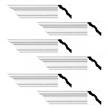 <PRE>Renovator's Supply Cornice White Urethane Montmarnes Simple Design 6 Pieces Totaling 564inch Length</PRE>zoom1