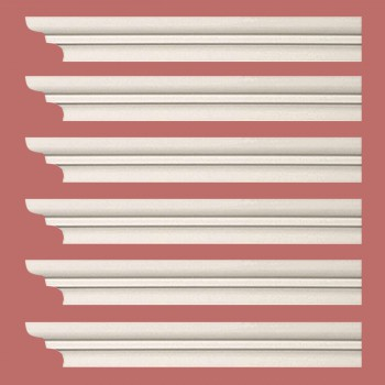 Renovators Supply Cornice White Urethane Papillon Simple Design 6 Pieces Totaling 564 Length White PrePrimed Urethane Crown Cornice Molding Cornice Crown Home Depot Ekena Millwork Molding Wall Ceiling Corner Cornice Crown Cove Molding