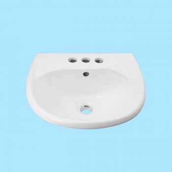 <PRE>Small Wall Mount Sink White Vitreous China with Centerset Faucet Holes </PRE>zoom2