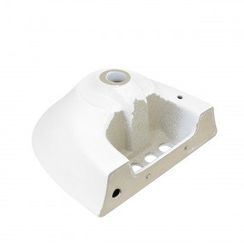 <PRE>Small Wall Mount Sink White Vitreous China with Centerset Faucet Holes </PRE>zoom3