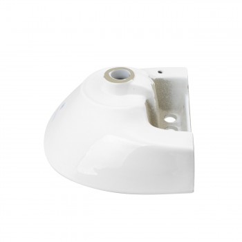 <PRE>Small Wall Mount Sink White Vitreous China with Centerset Faucet Holes </PRE>zoom4