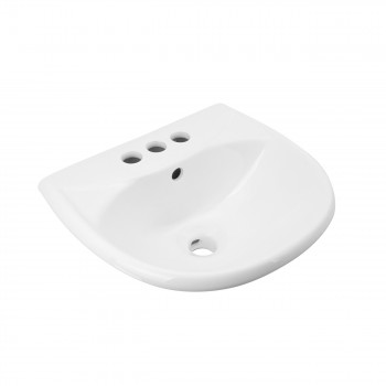 <PRE>Small Wall Mount Sink White Vitreous China with Centerset Faucet Holes </PRE>zoom5