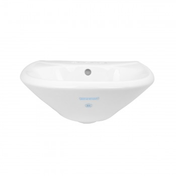 <PRE>Small Wall Mount Sink White Vitreous China with Centerset Faucet Holes </PRE>zoom6
