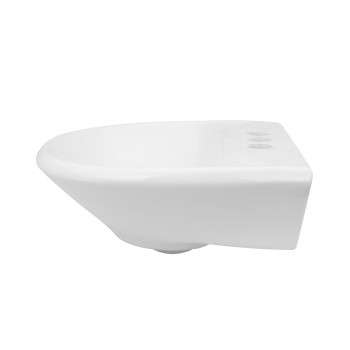<PRE>Small Wall Mount Sink White Vitreous China with Centerset Faucet Holes </PRE>zoom7