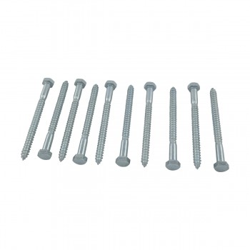 "<PRE>10 5/16inch x 4"" Hex Lag Bolt Steel  Zinc Plated 10 Pack</PRE>zoom2"