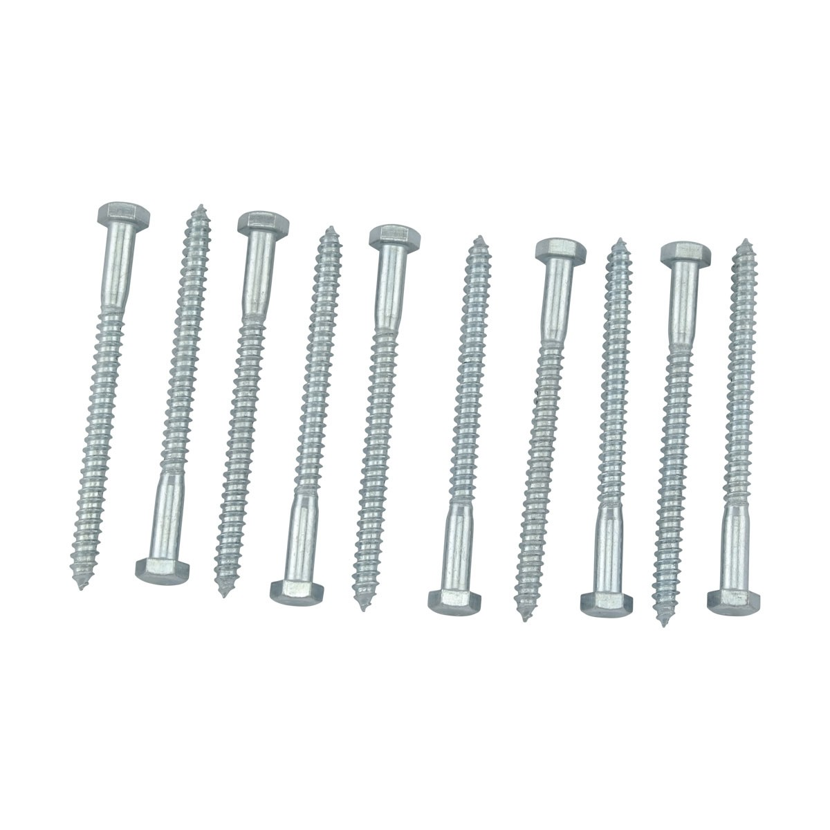 10 516 x 4 Hex Lag Bolt Steel  Zinc Plated 10 Pack Hex Lag Bolt Stainless Steel