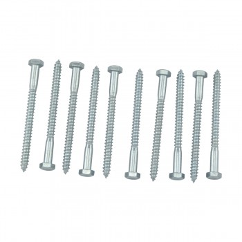 "<PRE>10 5/16inch x 4"" Hex Lag Bolt Steel  Zinc Plated 10 Pack</PRE>zoom3"