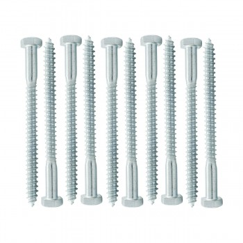 "<PRE>10 5/16inch x 4"" Hex Lag Bolt Steel  Zinc Plated 10 Pack</PRE>zoom1"