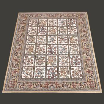Rectangular Area Rug 10 10 x  7 7 Beige Silk Blend Rugs Rug Decorative Rugs