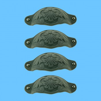 spec-<PRE>Cabinet Pull Wrought Iron Colonial Design Pack of 4</PRE>