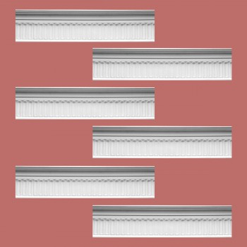 Renovators Supply Ornate Cornice White Urethane Sommet Design 6 Pieces Totaling 497.25 Length White PrePrimed Urethane Crown Cornice Molding Cornice Crown Home Depot Ekena Millwork Molding Wall Ceiling Corner Cornice Crown Cove Molding