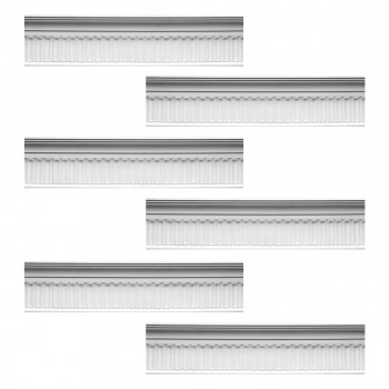 <PRE>Renovator's Supply Ornate Cornice White Urethane Sommet Design 6 Pieces Totaling 497.25inch Length</PRE>zoom1