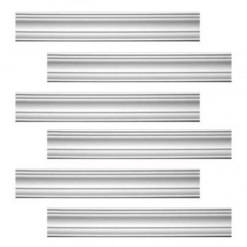 Renovators Supply Cornice White Urethane Pas De Calais Design 6 Pieces Totaling 567.75 Length White PrePrimed Urethane Crown Cornice Molding Cornice Crown Home Depot Ekena Millwork Molding Wall Ceiling Corner Cornice Crown Cove Molding