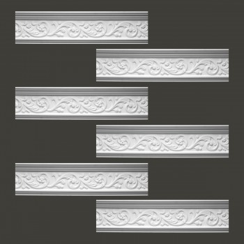 <PRE>Renovator's Supply Cornice White Urethane Somber Water Design 6 Pieces Totaling 471.75inch Length</PRE>zoom2