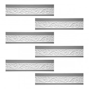 <PRE>Renovator's Supply Cornice White Urethane Somber Water Design 6 Pieces Totaling 471.75inch Length</PRE>zoom1