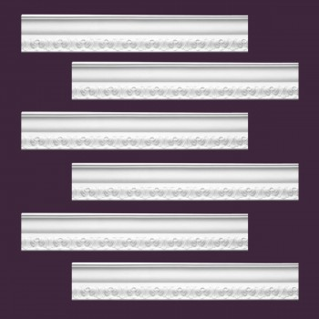 <PRE>Renovator's Supply Ornate Cornice White Urethane Melville Design 6 Pieces Totaling 570inch Length</PRE>zoom2