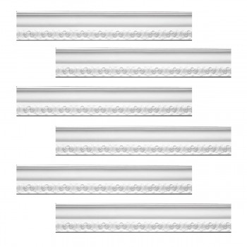 <PRE>Renovator's Supply Ornate Cornice White Urethane Melville Design 6 Pieces Totaling 570inch Length</PRE>zoom1