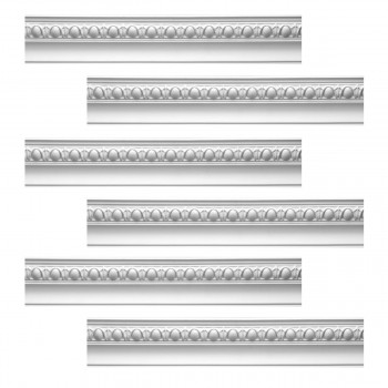 Renovators Supply Cornice White Urethane Hayes Ornate Design 6 Pieces Totaling 564 Length White PrePrimed Urethane Crown Cornice Molding Cornice Crown Home Depot Ekena Millwork Molding Wall Ceiling Corner Cornice Crown Cove Molding