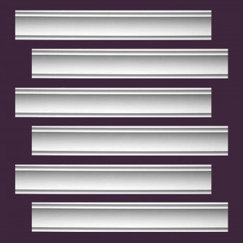 <PRE>Renovator's Supply Cornice White Urethane Jackson Simple Design 6 Pieces Totaling 564inch Length</PRE>zoom2