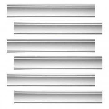 Renovators Supply Cornice White Urethane Jackson Simple Design 6 Pieces Totaling 564 Length White PrePrimed Urethane Crown Cornice Molding Cornice Crown Home Depot Ekena Millwork Molding Wall Ceiling Corner Cornice Crown Cove Molding