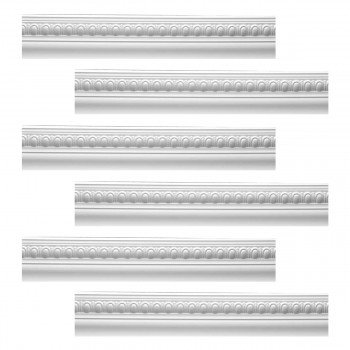 Renovators Supply Cornice White Urethane Jefferson Ornate Design 6 Pieces Totaling 568.5 Length White PrePrimed Urethane Crown Cornice Molding Cornice Crown Home Depot Ekena Millwork Molding Wall Ceiling Corner Cornice Crown Cove Molding