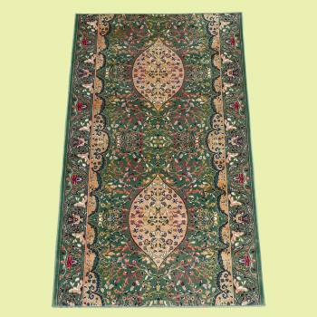 <PRE>Runner Area Rug 2' 2inch Wide, Sold by Foot Green Silk Blend </PRE>zoom2