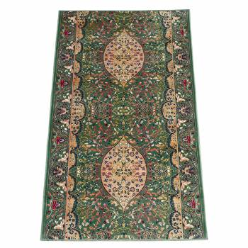 Green Ispahan Runner 26 in. wide Sold by the foot