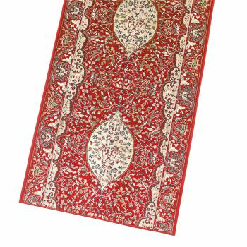 Red Ispahan Runner 26 in. wide Sold by the foot