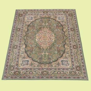 <PRE>Rectangular Area Rug 7' 6inch x  5' 2&quot; Green Silk Blend </PRE>zoom2