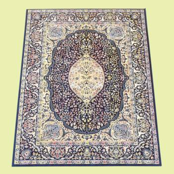 <PRE>Rectangular Area Rug 10' 10inch x  7' 7&quot; Blue Silk Blend </PRE>zoom2