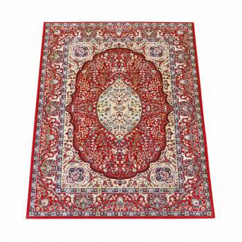 Rectangular Area Rug 10 10 x  7 7 Red Silk Blend Rugs Rug Decorative Rugs