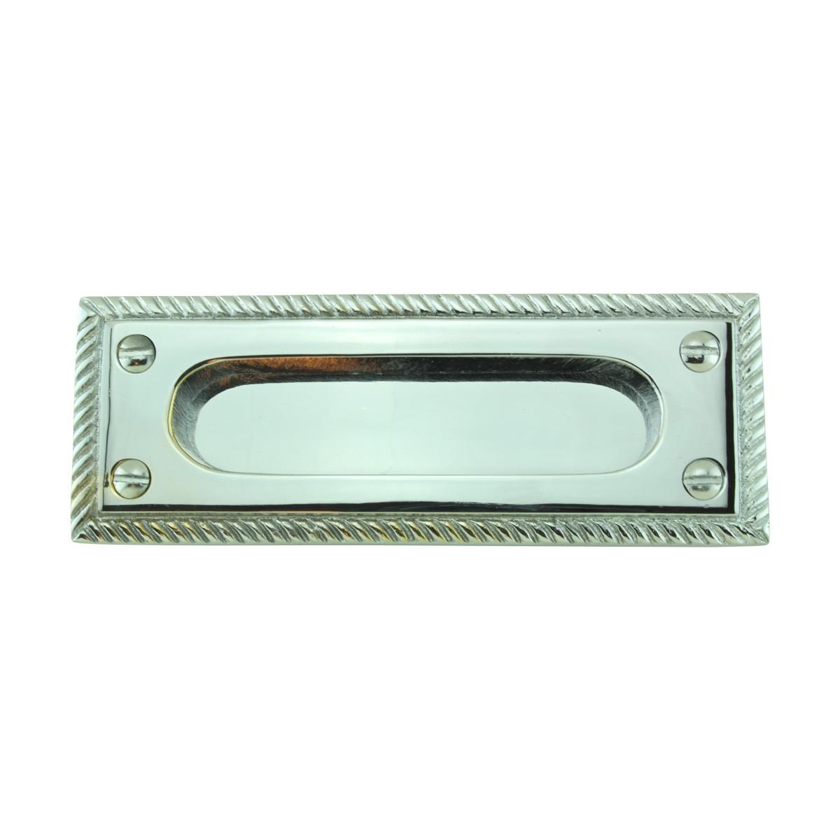 2 Georgian Rope Solid Brass Sash Lift Chrome Rectangular 5 Window Pulls Window Lifts Sash Lift