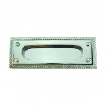 <PRE>2 Georgian Rope Solid Brass Sash Lift Chrome Rectangular 5inch </PRE>zoom3
